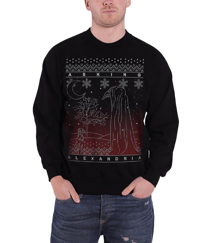 Asking Alexandria Christmas Jumper Sweatshirt The Schwarz Forest offiziell