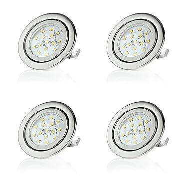 4 x stück sweet-led flacher Einbaustrahler LED, 230V, 3W, ultra ...