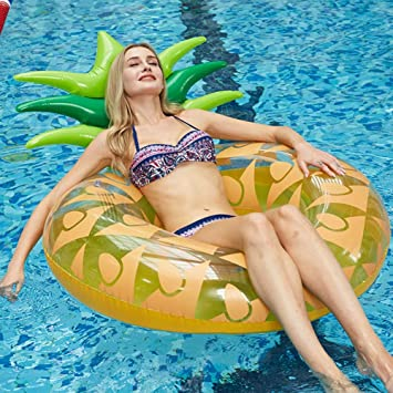 TZTED Inflable Gigante de Flotador Anillo de piña Hinchable colchonetas Piscina Flotador Piscina para Adultos, Juguete para Fiesta de Piscina con válvula rápida,Orange: Amazon.es: Deportes y aire libre