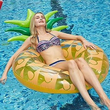 TZTED Inflable Gigante de Flotador Anillo de piña Hinchable ...