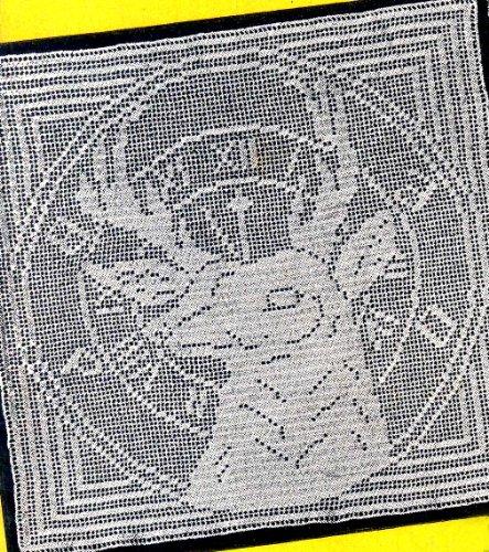Filet Pattern Crochet - BPOE Elks Emblem Filet Crochet Pattern