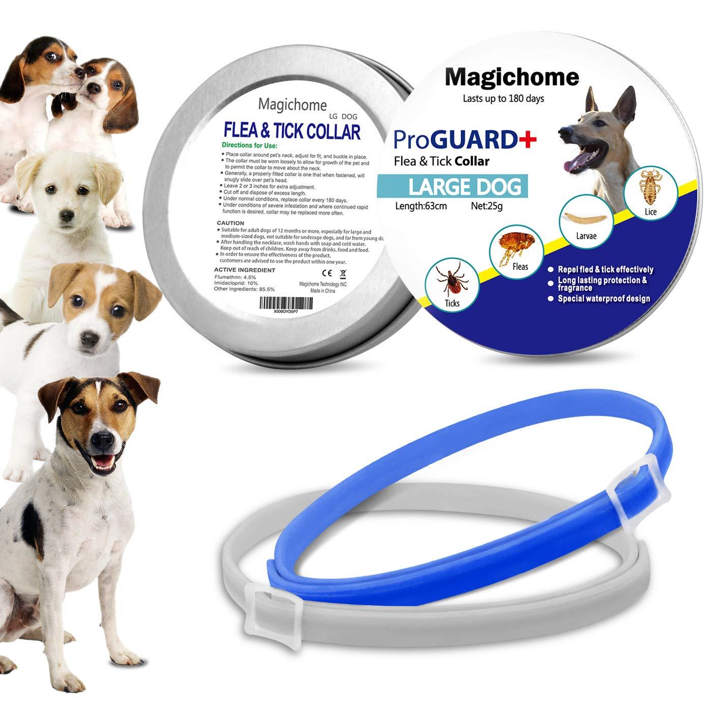 MagicHome Collar Antiparasitario para Perros contra Pulgas Garrapatas y Mosquitos