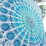 Indian hippie Bohemian Psychedelic Peacock Mandala Wall hanging Bedding Tapestry - Best Reviews Guide