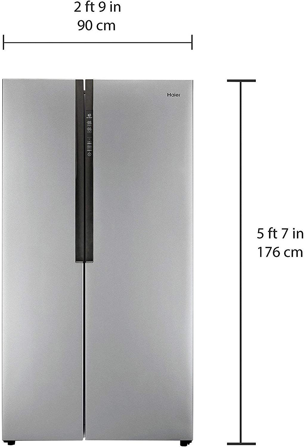 Haier HRF 618 SS Frost-free Side-by-Side Refrigerator (565 Ltrs, Grey):  Amazon.in: Home & Kitchen