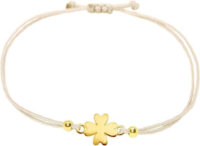Glücksbringer Armband 925er Silber Glücksklee vergoldet Rosègold Geschenkidee!