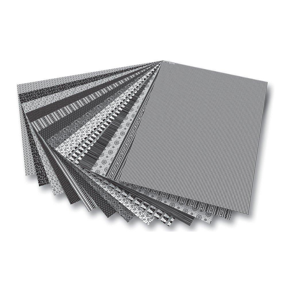 Black White Folia Garden Card 270 g   M² 50 x 70 CM, 5 Pictures 13–Piece Set (1 Set)