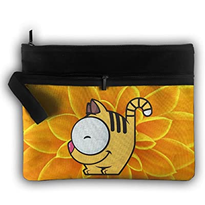 0d3a78bc204d Cats Animals Double Layers Zipper Cosmetic Bag Makeup Brush Holder ...