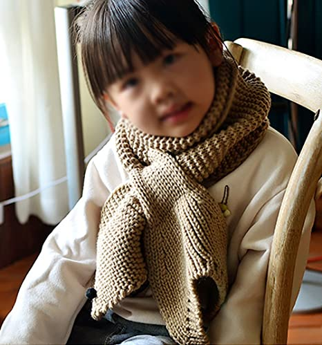 Demarkt 1 pcs Tricot écharpe Enfants Mignon Baleine Étoiles Scarf Chaud  Hiver Foulard pour Garçons Filles Kaki  Amazon.fr  Cuisine   Maison 870ef55c5db