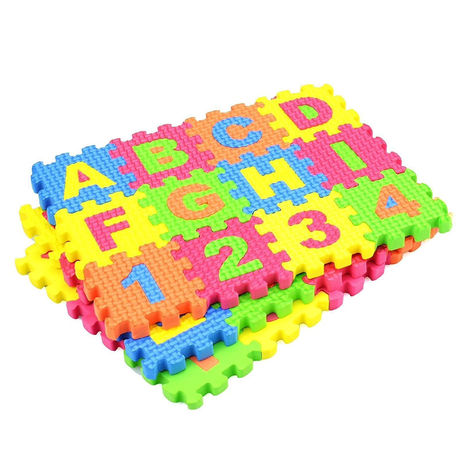 36pcs Soft EVA Foam Floor Mat Tiles Numbers Letters Alphabet Jigsaw Puzzle Children Kids Baby learn Play Room Indoor Outdoor ASAB