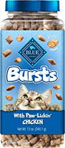 Blue Buffalo Bursts Crunchy Cat Treats Chicken 12-oz tub