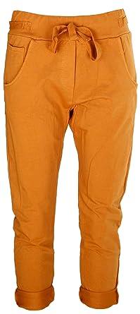 41437cb3fb04d Basic.de - Pantalon - Boyfriend - Femme - Jaune - XL: Amazon.fr ...
