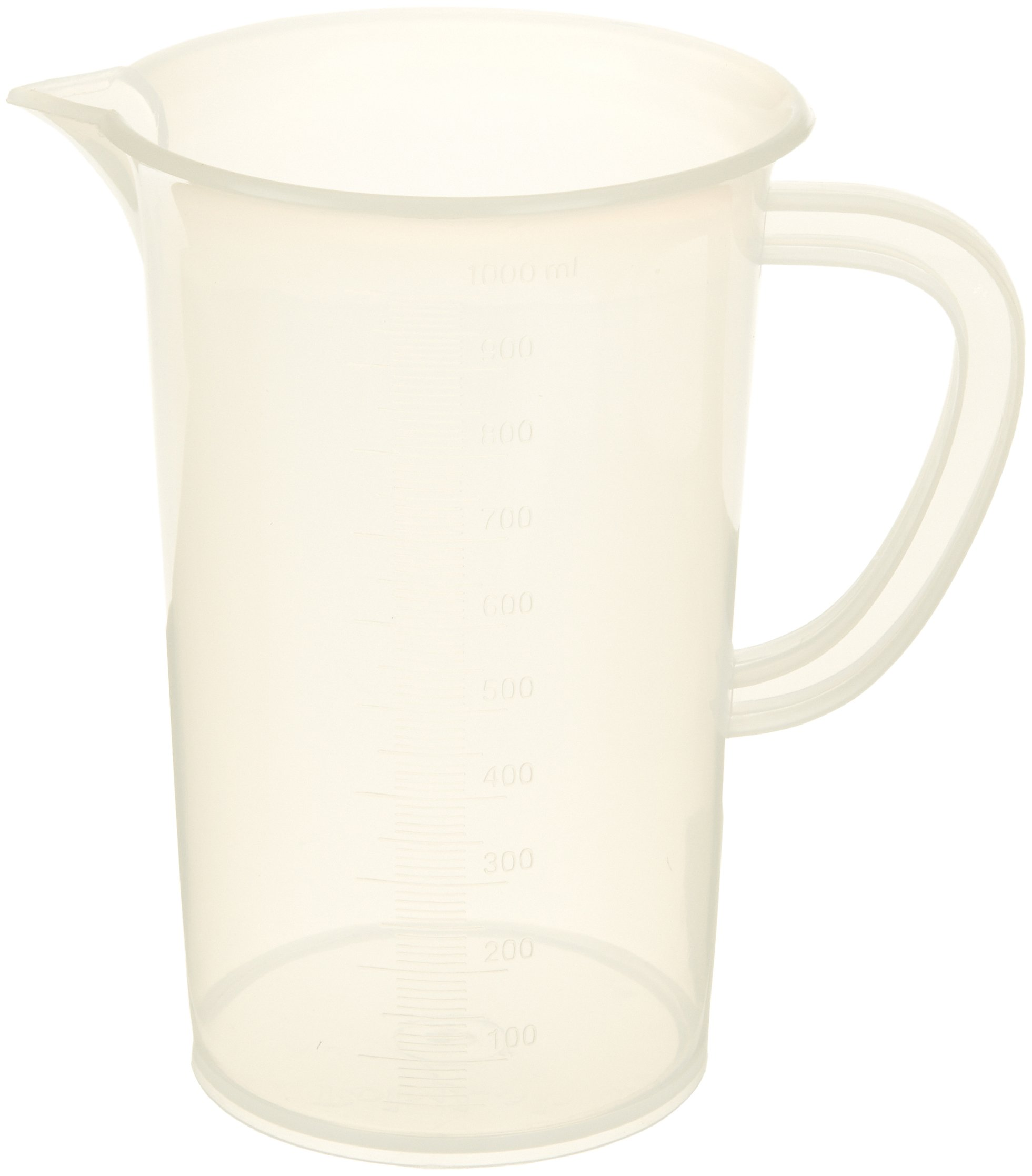 United Scientific 81103 Polypropylene Tall Form Pitchers, 1000ml Capacity (Pack of 6)