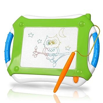 TTMOW Pizarras Mágicas Colorido con Pluma, Almohadilla Borrable de Escritura y Dibujo, Juguetes Educativos para 3 niños 4 años 5 años 6 años (Verde)