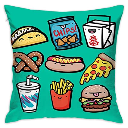 Amazoncom Npsfyxxp Hold Pillow Junk Food Dudes Breathable Sofa