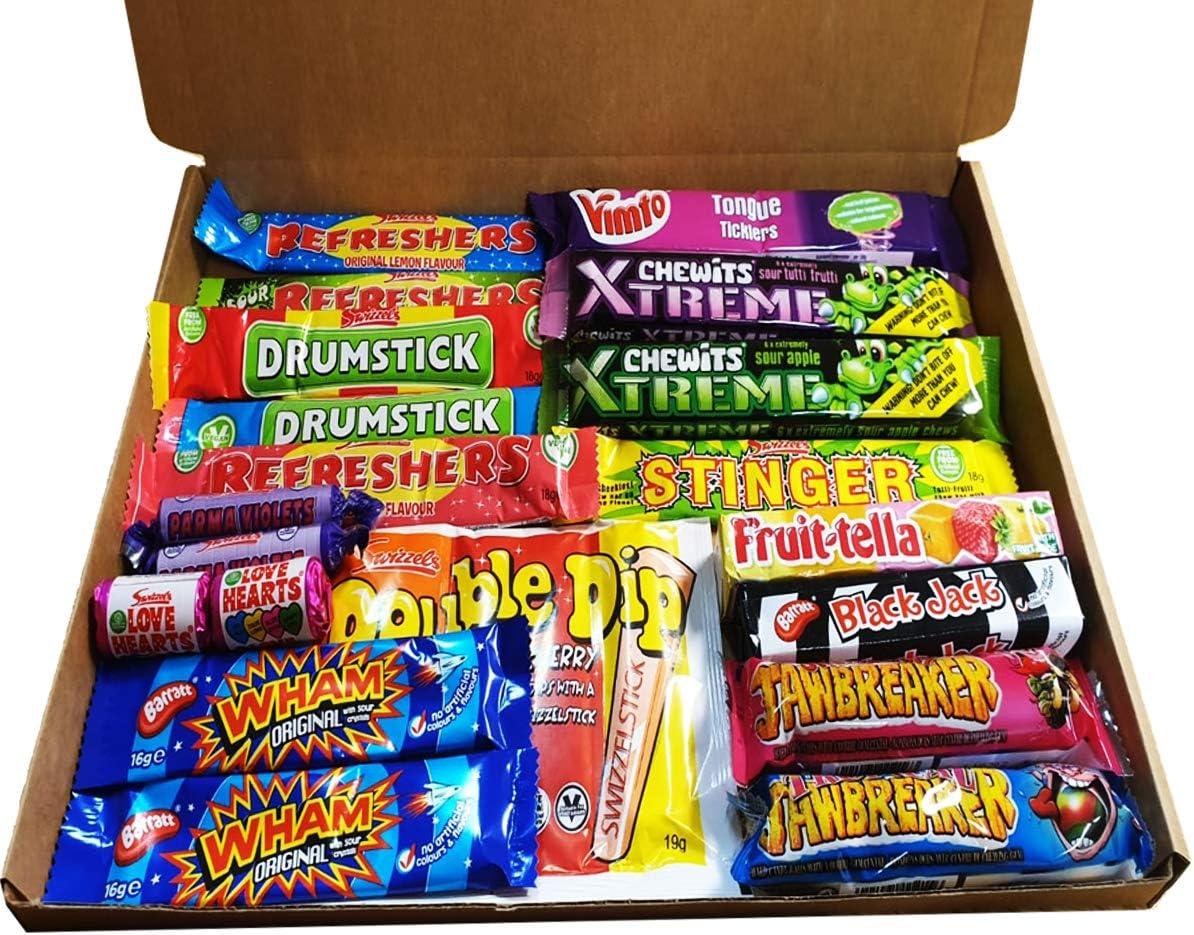 Best Ever Retro Sweets 70s 80s - Caja de selección de barras para masticar Chew Sweets Box: Amazon.es: Alimentación y bebidas