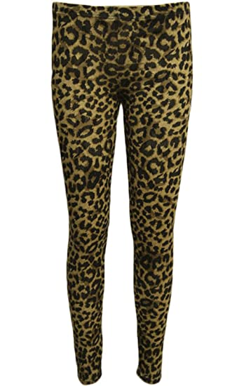 c76ac6da35883 GUBA Women's Full Length Animal Print Leggings Jegging Stretchy Pants  Skinny UK L/XL 16