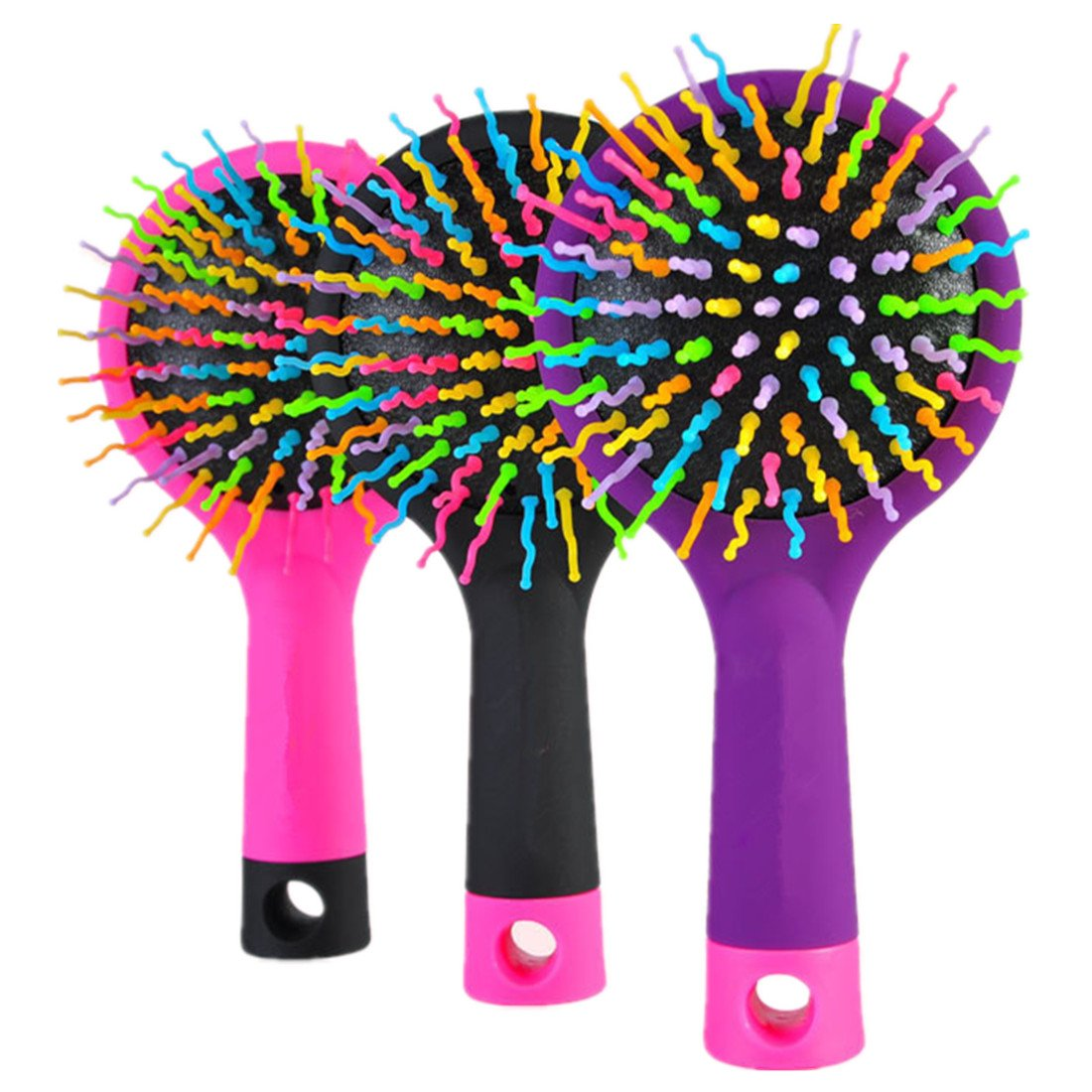 Detangling Brush - Glide Thru Detangler Hair Comb or Brush - No More Tangle - Adults & Kids - Pink Crave Naturals 820103187893