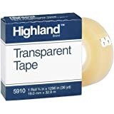 16 Pack 3M COMPANY TAPE HIGHLAND TRANSPARENT 3/4X1296