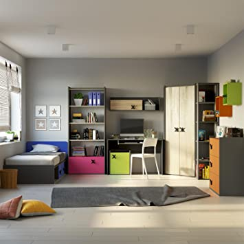 Jugendzimmer Komplett Set Iks Color 10 Tlg Teenager Zimmer