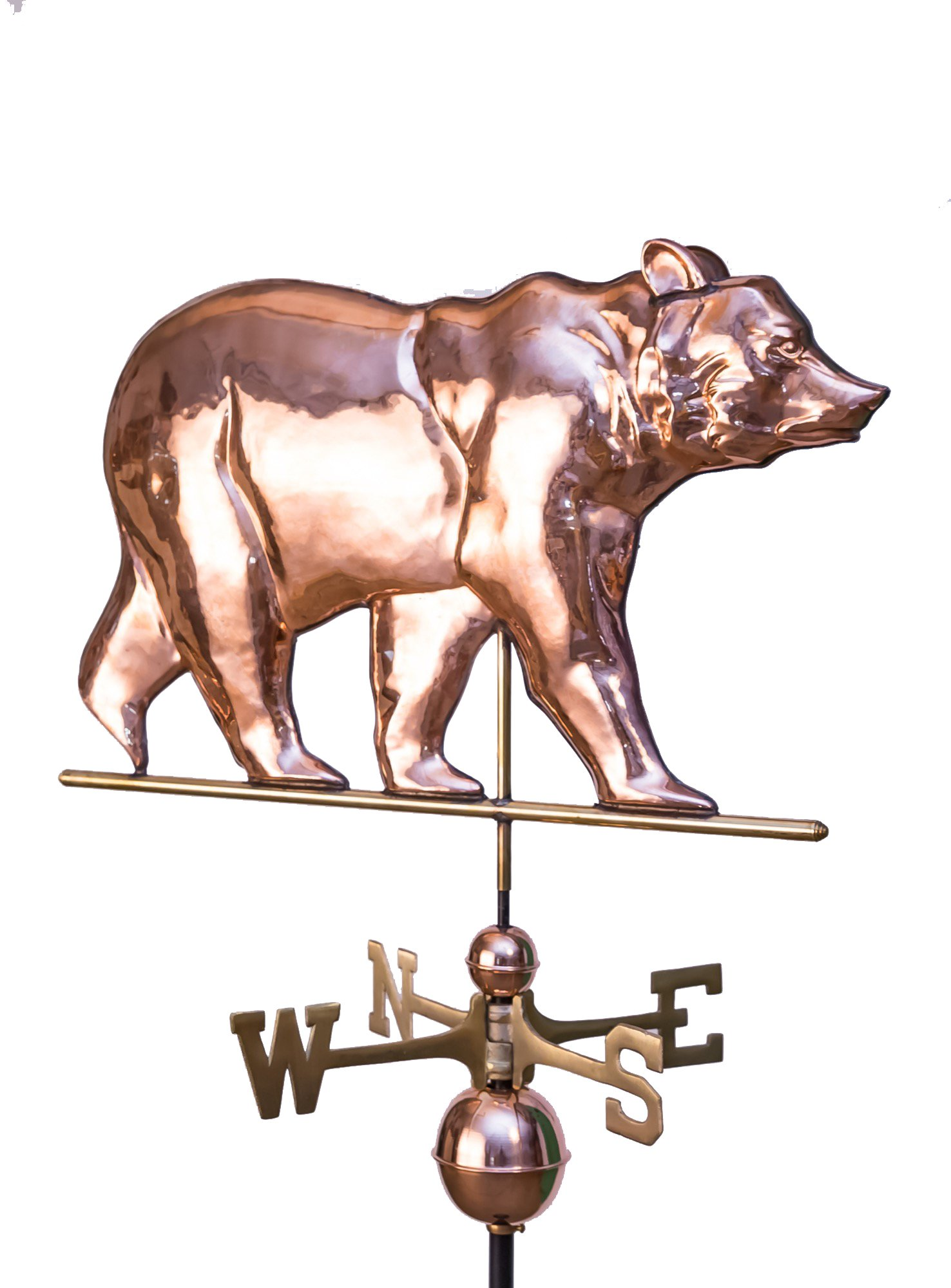 East Coast Weathervanes and Cupolas Large Bear Weathervane Polished Copper by East Coast Weathervanes and Cupolas