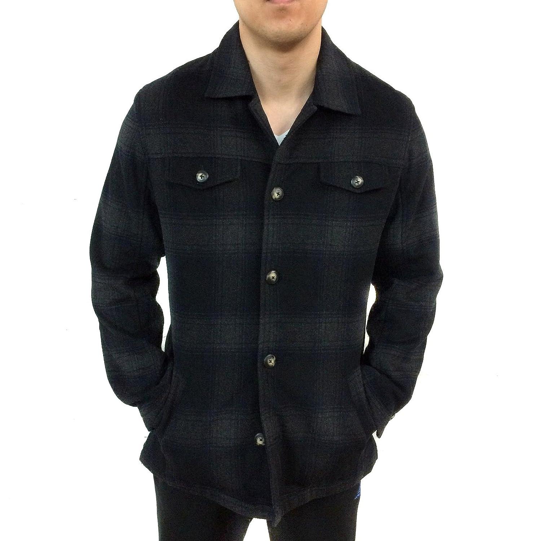 fda15827e UTEX Men's Soft Wool Button Down Insulated Plaid Coat/jacket (Medium ...