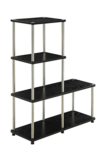 Convenience Concepts Designs2Go Multi L Bookshelf, Black