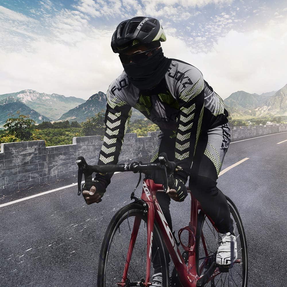 Cagoule Moto Balaclava Respirant Magique Bandeau Bouclier Protection UV Bandana Noir pour Activit/és Sports Moto Cyclisme V/élo Course.