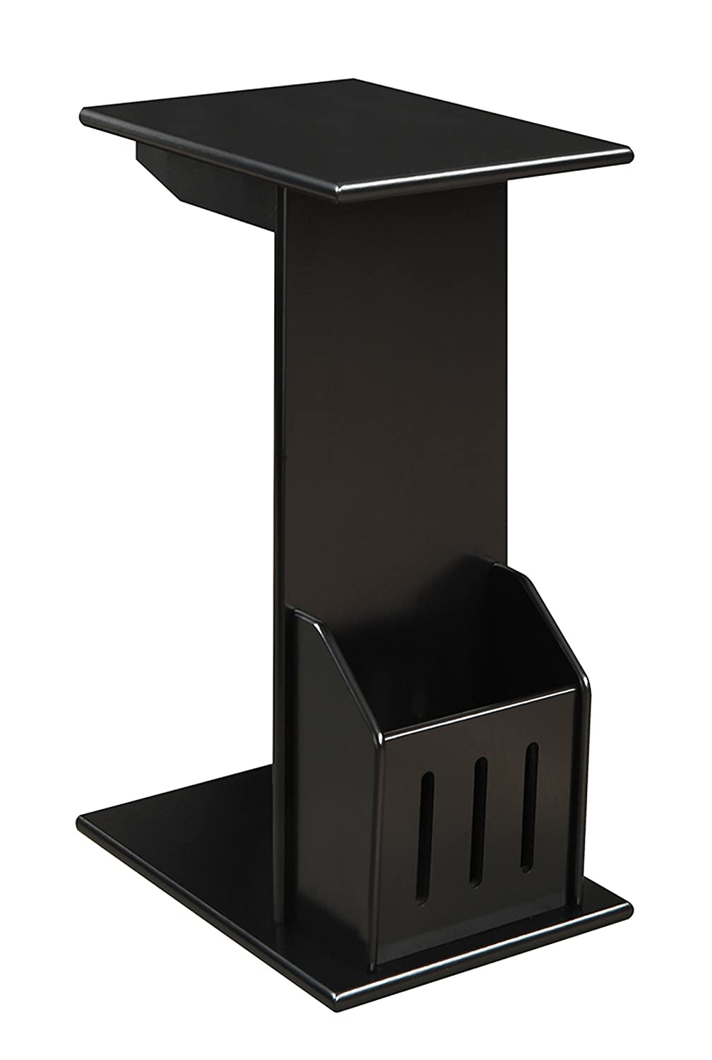 Convenience Concepts Abby Magazine C End Table, Black 7103022B