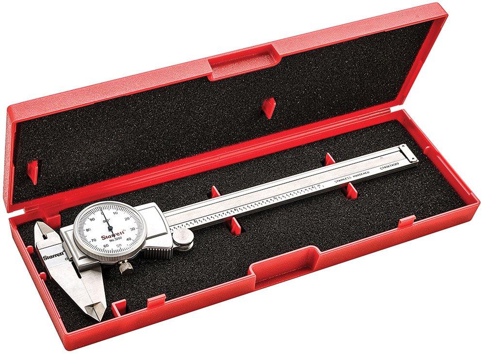 """0.001/"""" graduation, 0-12/"""" range 3202-12 dial caliper hardened stainless steel"""