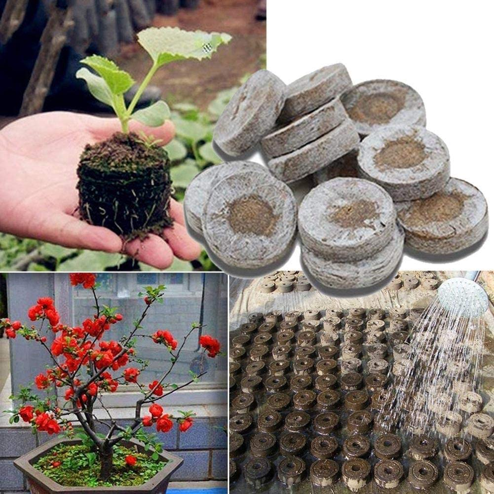 GLOBEAGLE 30 mm Jiffy Peat Pellets Seed Starting Plugs Pallet Seedling Soil Block PoE 1 Piece