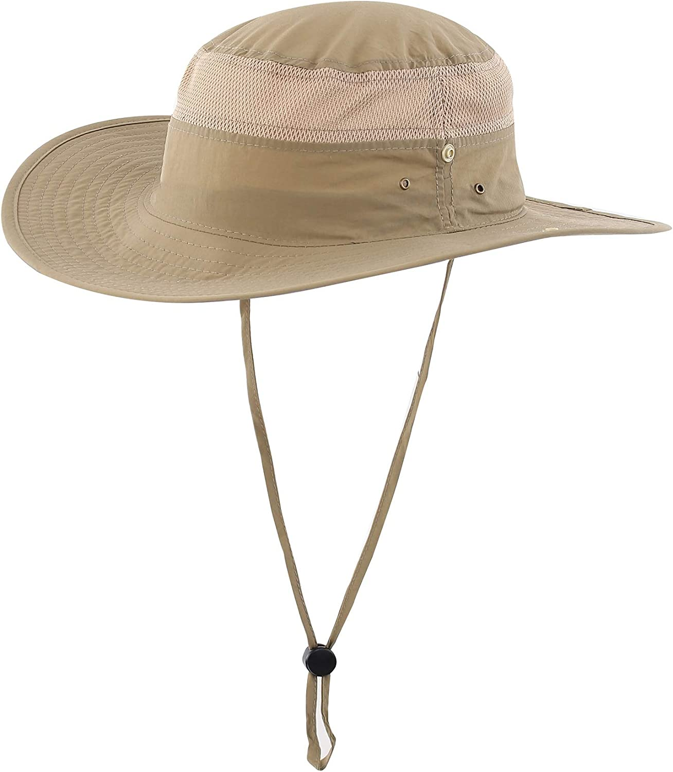Connectyle Outdoor Mesh Sun Hat Wide Brim UV Sun Protection Hat Fishing Hiking Hat