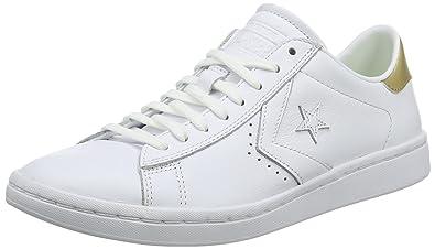 Converse Pl LP Ox, Sneakers Femme, Blanc (White/Silver/White), 41 EU