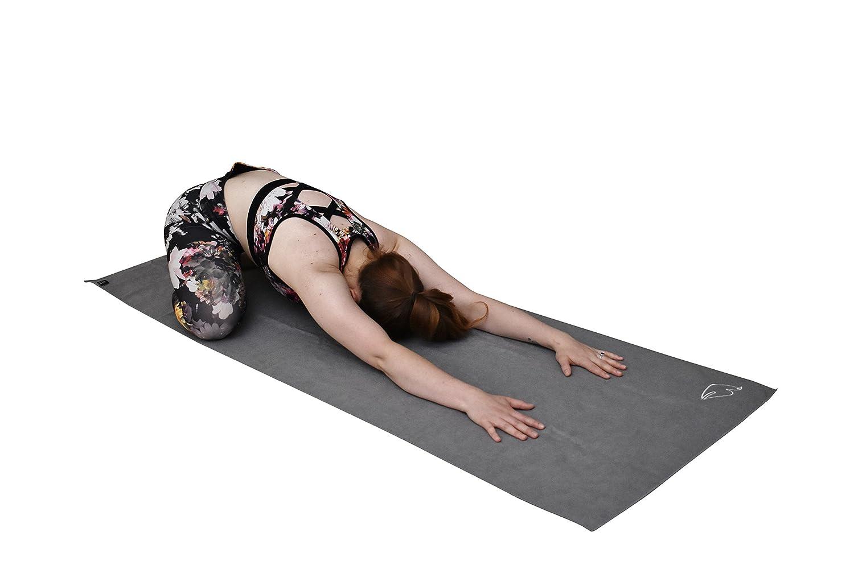 Blue Dove Yoga Toalla de Yoga de Microfibra de Color Azul ...