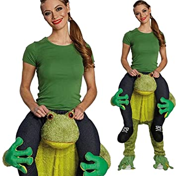 Huckepack Kostüm Frosch Carry Me Kostüm Lustiges Karnevalskostüm ...
