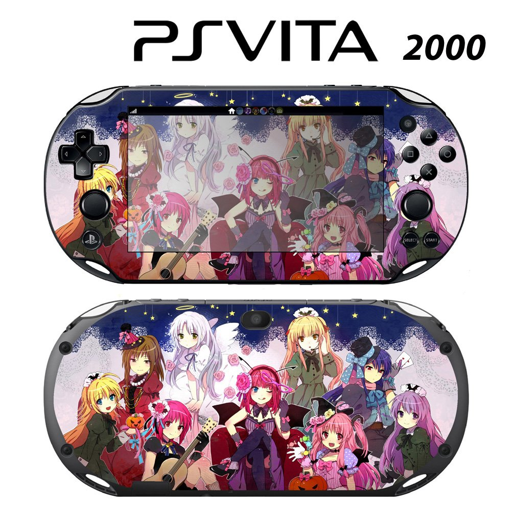 Decorative Video Game Skin Decal Cover Sticker for Sony PlayStation PS Vita Slim (PCH-2000) - Angel Beats