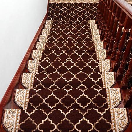 xtswllt alfombras para escaleras alfombras para escaleras Alfombra de Escalera de Madera Maciza autoadhesiva, 26 × 80 cm * 2 Piezas: Amazon.es: Hogar