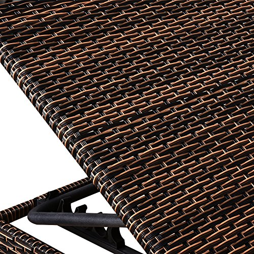 MAGIC UNION Patio Adjustable Wicker Chaise Lounge with Cushions Sets of 2 by MAGIC UNION (Image #4)