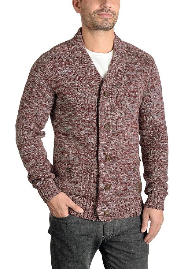 SOLID Herren Powell Strickjacke Cardigan mit V-Ausschnitt aus 100% Baumwolle  Meliert: Amazon.de: Bekleidung