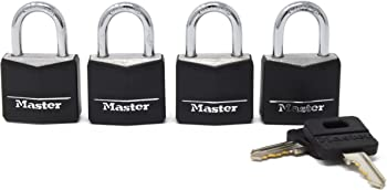 4-Pack Master Lock 131Q Padlock with Key
