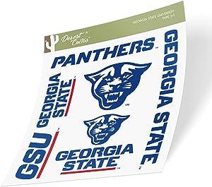 Georgia State University GSU Panthers NCAA Full Sheet Sticker Vinyl Decal Laptop Water Bottle Car Scrapbook (Type 2 Sheet)