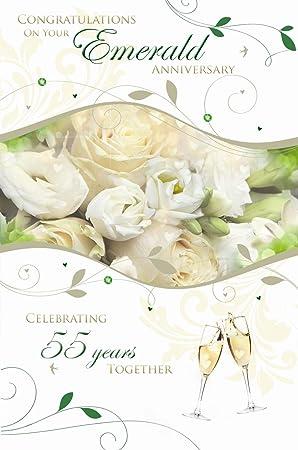 Congratulations on your emerald wedding anniversary 55th rose design congratulations on your emerald wedding anniversary 55th rose design greeting card m4hsunfo