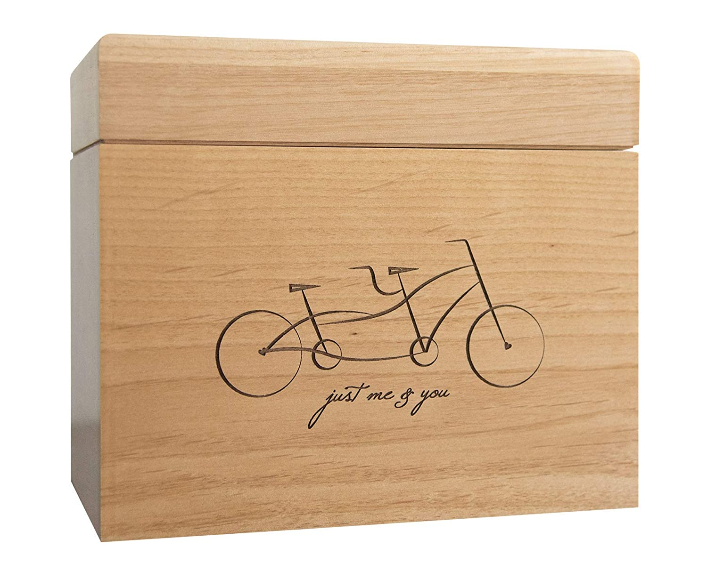 Amazoncom Tandem Bicycle Personalized Wooden Recipe Box Handmade
