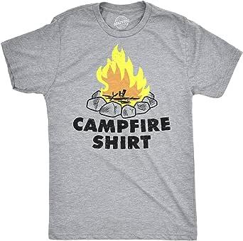 Mens Campfire Shirt Funny Firewood Camping Summertime T shirt