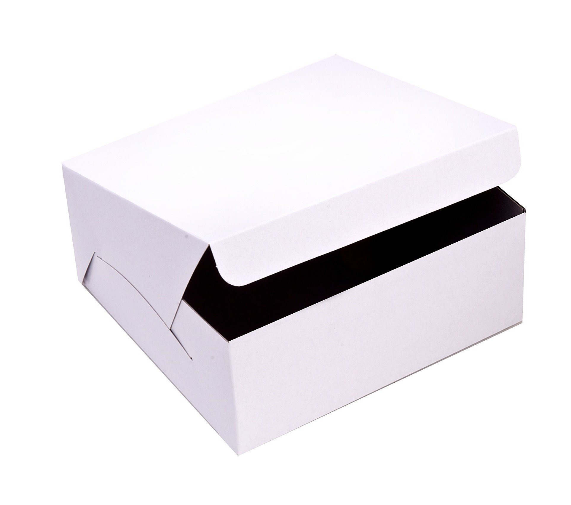 SafePro 14146C, 14x14x6-Inch Cardboard Cake Boxes, Take Out Disposable Paper Cake Pie Containers, Wholesale White Bakery Box (100)