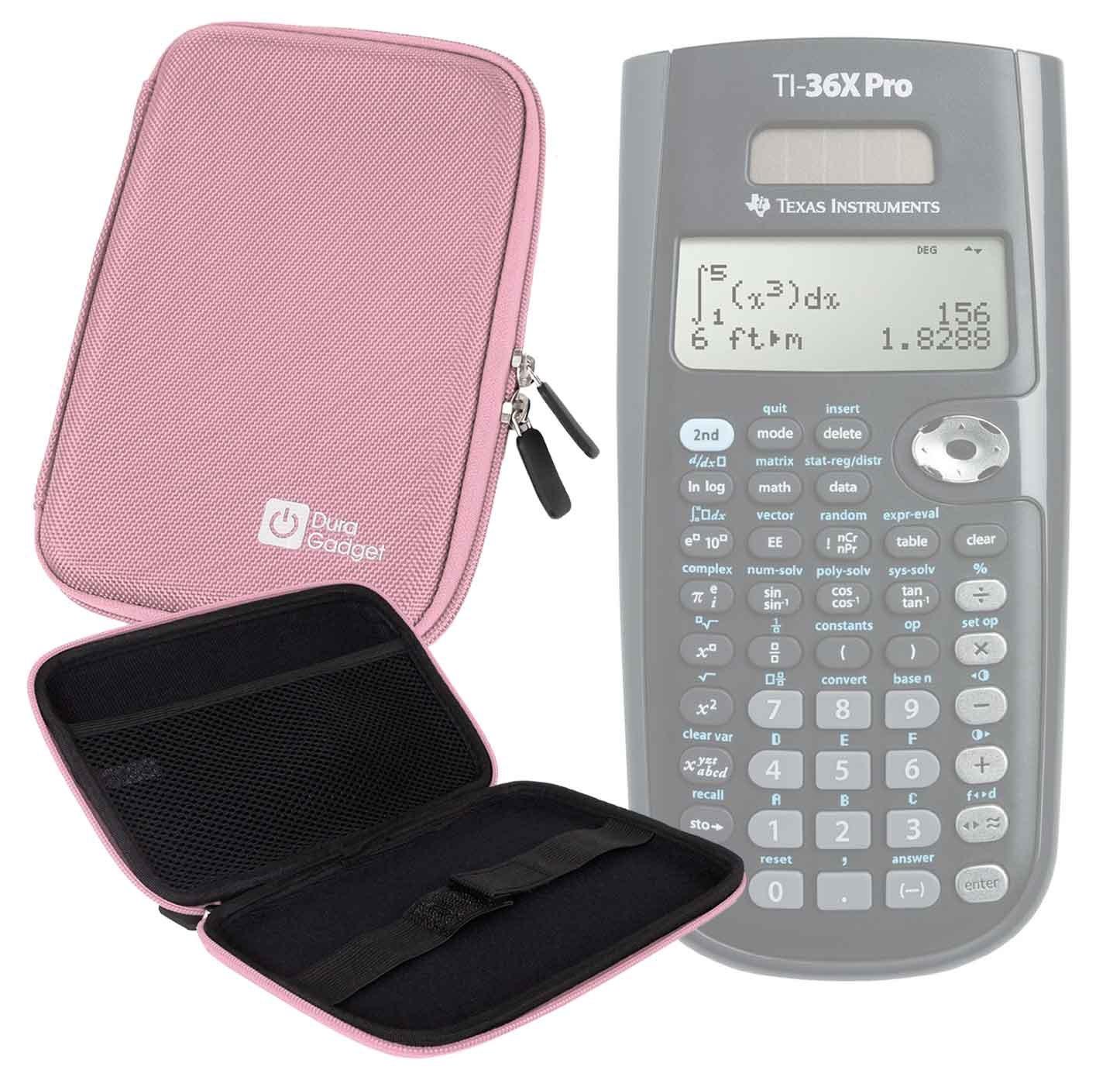 DURAGADGET Pink Hard EVA 'Shell' Case - for the Texas Instruments TI-36X Pro