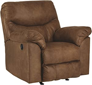 Signature Design by Ashley - Boxberg Contemporary Faux Leather Rocker Recliner, Brown