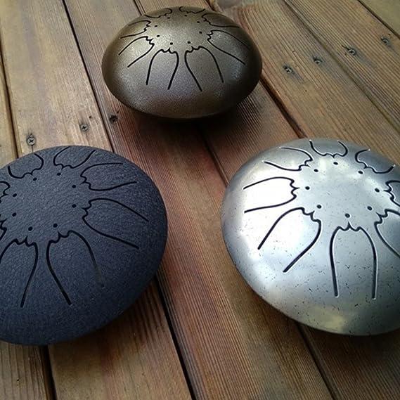 GENOVATION Tambor de acero para lengua, instrumento de percusión de acero con bolsa de viaje gratis, negro, azul oscuro, marrón, azul: Amazon.es: ...