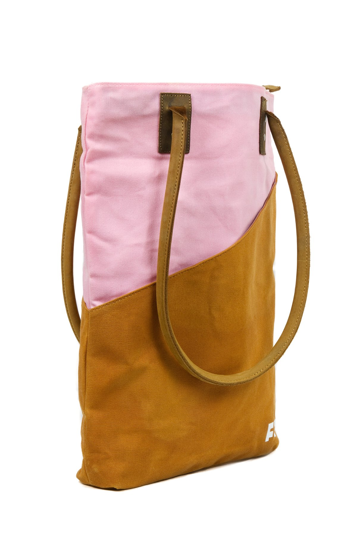 Large Waxed Canvas Tote Bag for Women | the JOPLIN TALL TOTE by FAT FELT (Desert) by FAT FELT (Image #2)