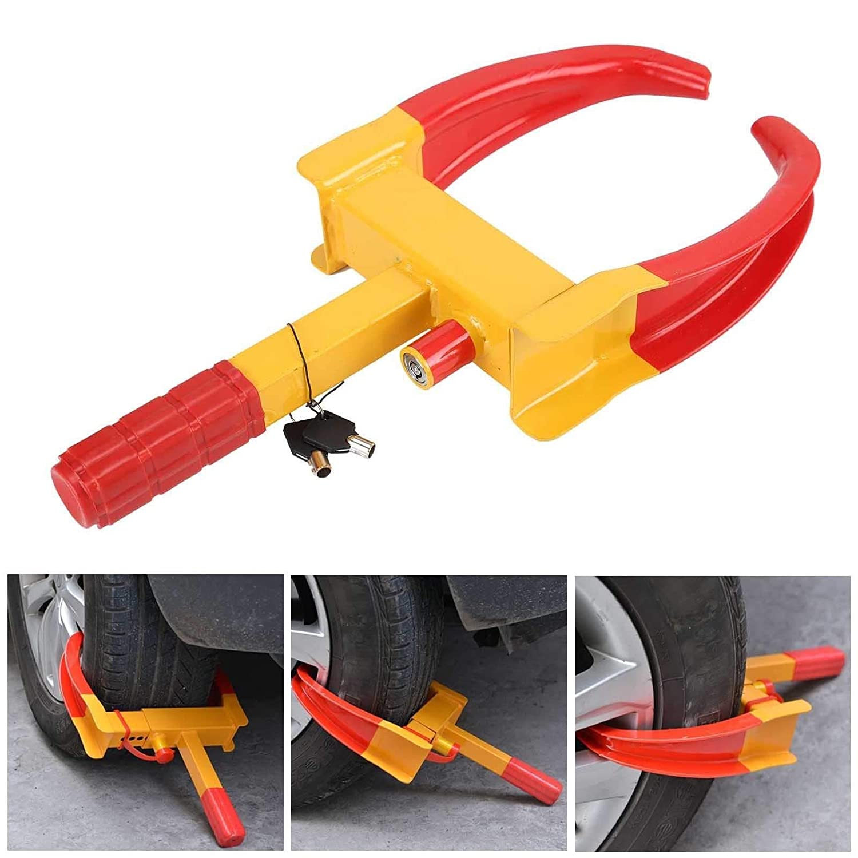 MKS HEAVY DUTY WHEEL CLAMP ANTI-THEFT LOCK CARAVAN CAR TRAILER SECURITY 2 KEYS CHN