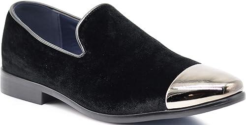 Mens Black Patent Classic Designer Slip On Shoes